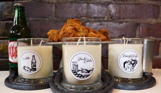 ساخت شمع هایی با بوی مرغ سوخاری + عکس