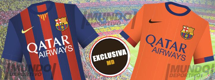 پیراهن جدید تیم بارسلونا برای فصل 15-2014