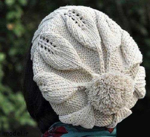 Kolah Bafte 002 جدیدترین مدل های شال و کلاه بافتنی دخترانه