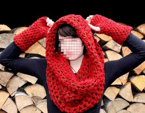 Kolah Bafte 004 جدیدترین مدل های شال و کلاه بافتنی دخترانه