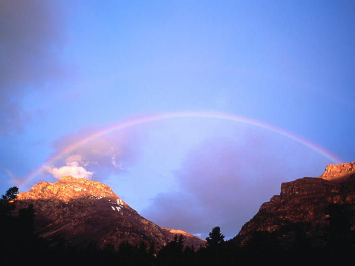 Rainbow 001 عکس های رنگین کمان های زیبا