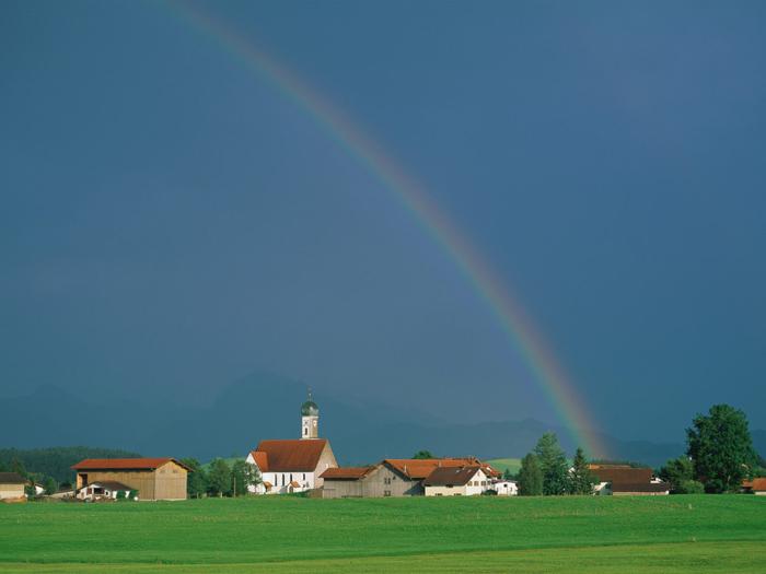 Rainbow 009 عکس های رنگین کمان های زیبا