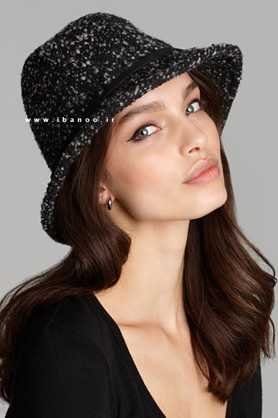 کلاه زمستانی برای صورت های قلبی شکل