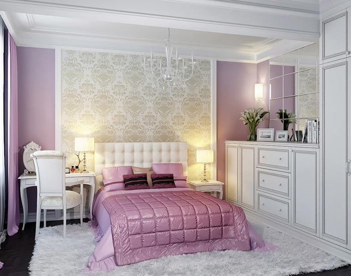 for Chambre blanche et rose
