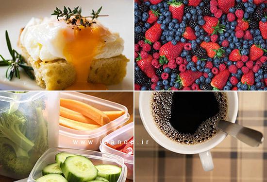 مبارزه با چربی شکم,بری ها -سبزیجات خام -تخم مرغ - قهوه
