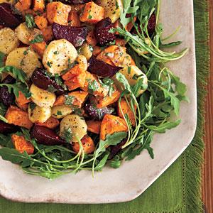 roasted-root-salad طرز تهیۀ سالاد سبزیجات کبابی