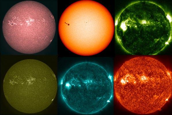 خورشید چه رنگی است ؟ / عکس