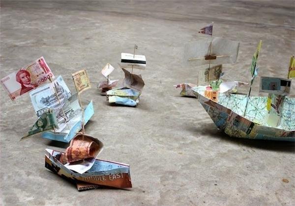 قایقهای اسکناسی+عکس