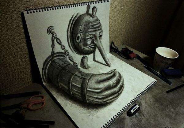 نقاشیهای سه بعدی شگفتانگیز