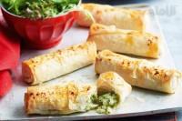 لقمۀ فیلوی پنیر، سیبزمینی و سبزیجات