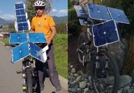 ساخت دوچرخه خورشیدی با دستان خالی +عکس