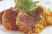 braised-lamb-cutlets-with-saffron-rice