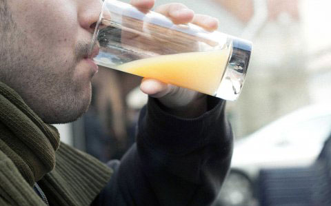 man-drinking-juice