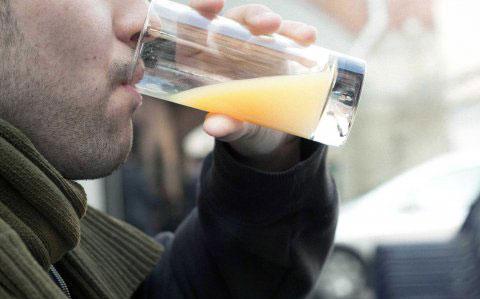 man-drinking-juice