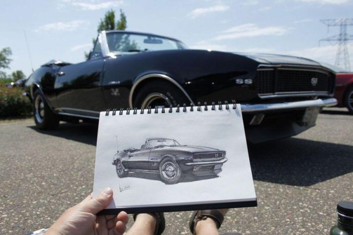 نقاشیهای دیدنی ماشینهای کلاسیک/عکس