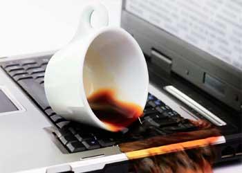 لپتاپ + قهوه