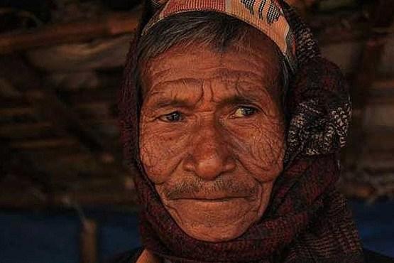 چهره یه مرد نپالی