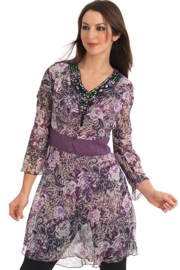 Chiffon Kurti 2 001 مدل های متنوع لباس های خانگی و راحت برای خانم ها