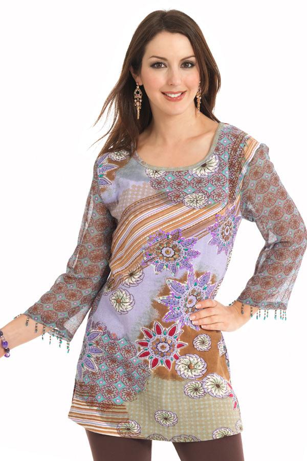 Chiffon Kurti 2 002 مدل های متنوع لباس های خانگی و راحت برای خانم ها