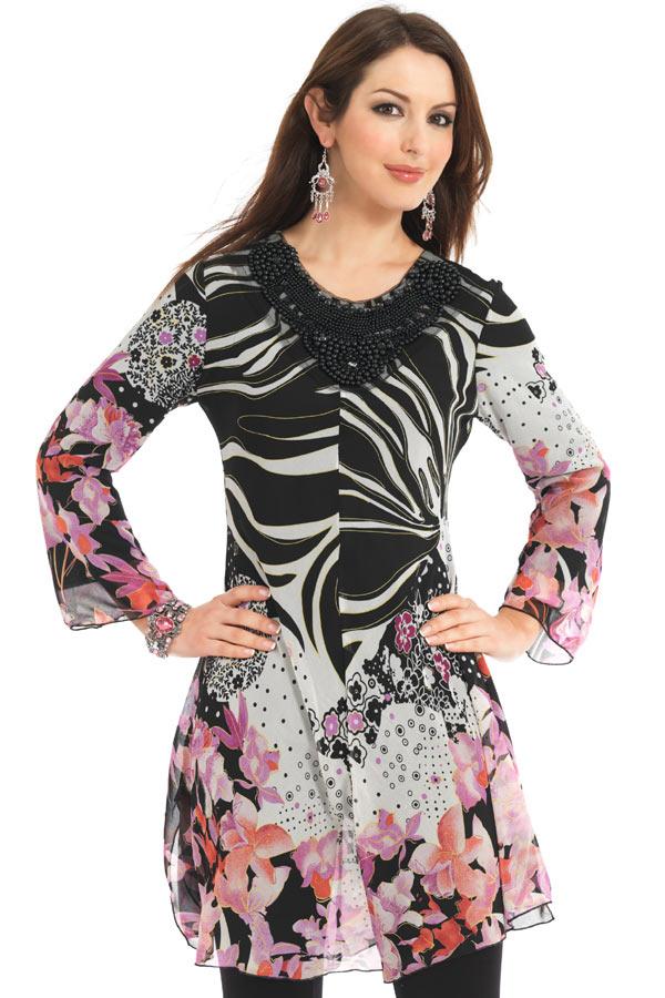 Chiffon Kurti 2 004 مدل های متنوع لباس های خانگی و راحت برای خانم ها