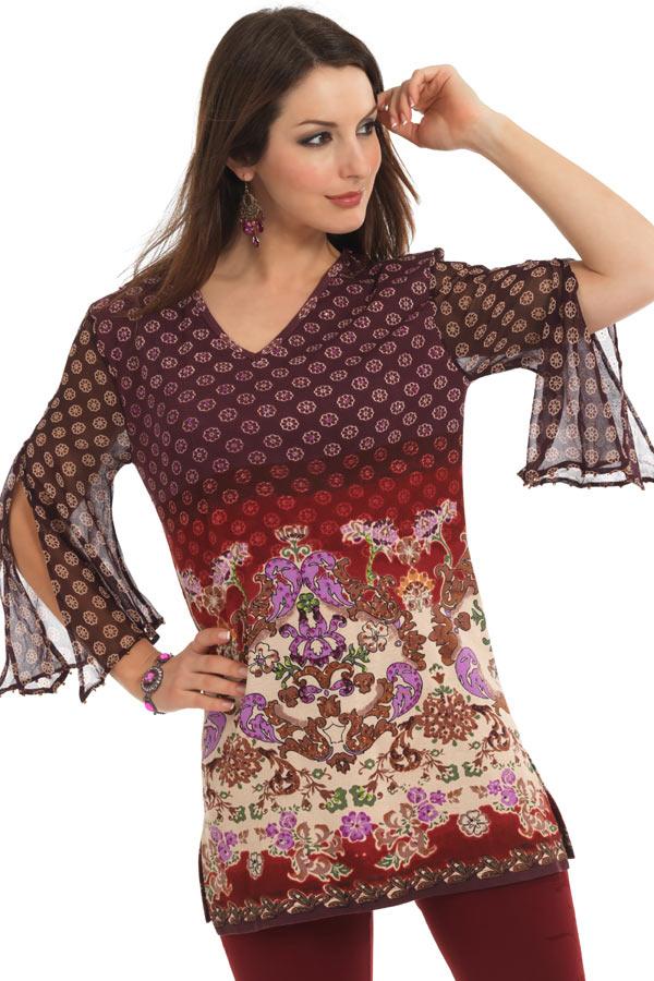 Chiffon Kurti 2 005 مدل های متنوع لباس های خانگی و راحت برای خانم ها