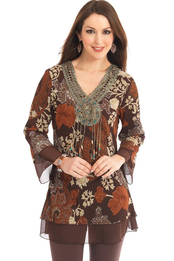 Chiffon Kurti 2 006 مدل های متنوع لباس های خانگی و راحت برای خانم ها