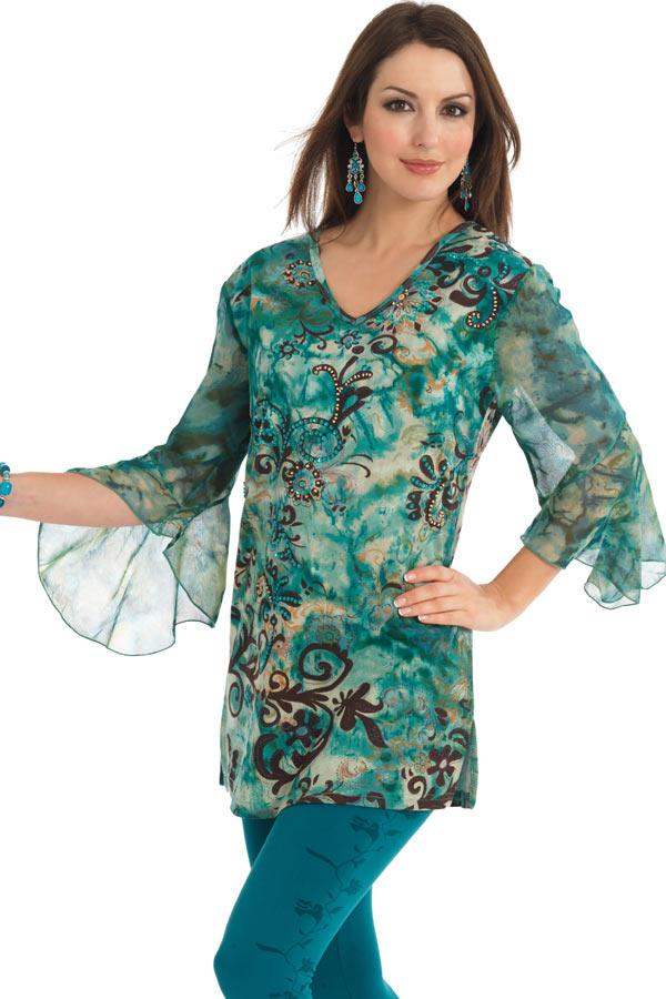 Chiffon Kurti 2 007 مدل های متنوع لباس های خانگی و راحت برای خانم ها