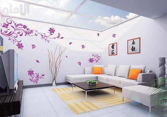 کاغذ دیواری اتاق نشیمن
