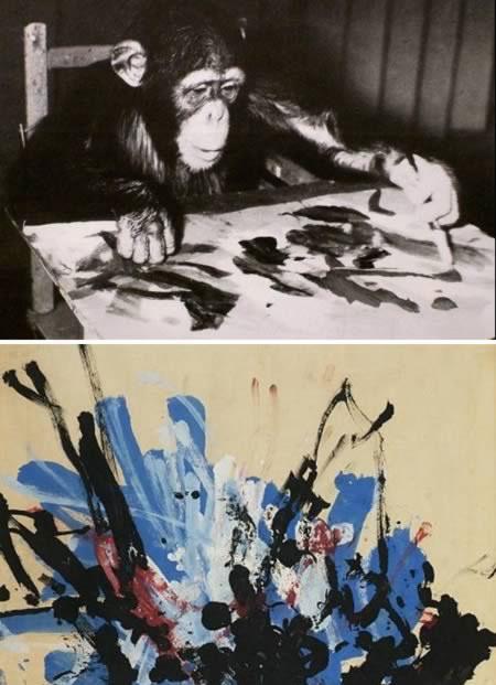 شامپانزه هنرمند