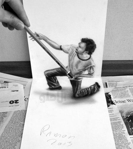 نقاشی شگفت انگیز سه بعدی