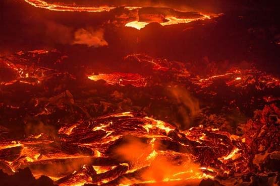 عکس دره آتشفشانی