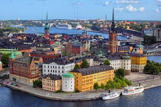 سوئد و منظره ای از شهر استکهلم