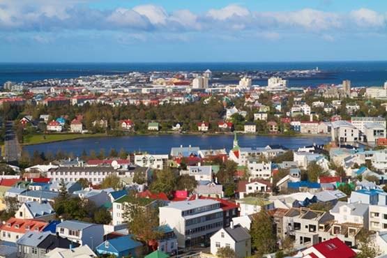 ایسلند و چشم انداز زیبایی از شهر ریک یاویک