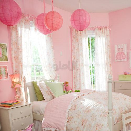 مدل پرده اتاق خواب رنگ آبی
