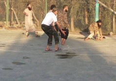 تیم فوتبال گروه تروریستی داعش /عکس