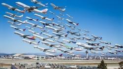 اگر همه هواپیماها همزمان پرواز کنند؟+عکس