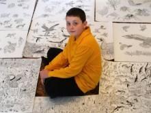 هنرنمایی نقاش 11 ساله با مداد / عکس