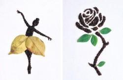 هنرنمایی با دانههای قهوه / عکس