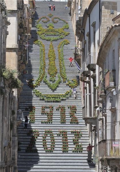 نقاشی روی پله