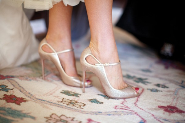 Gold-Louboutin-Peep-Toe-Shoes