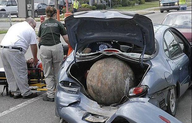 تصادف رانندگی خنده دار