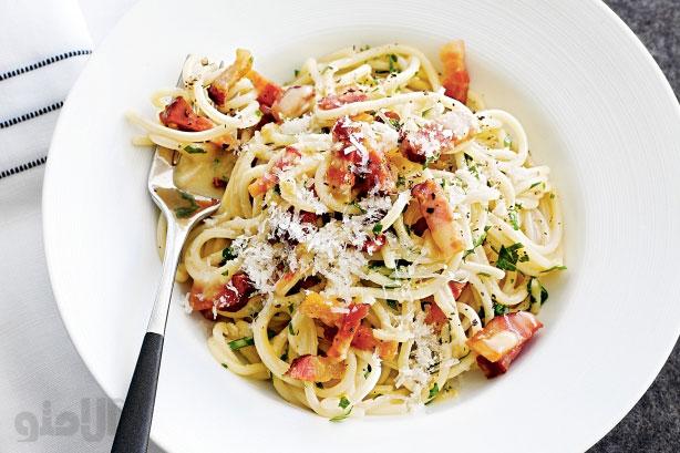 طرز تهیه اسپاگتی کاربونارا