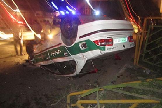 واژگونی خودروی پلیس
