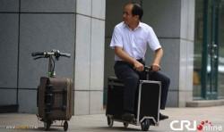 چمدان هایی که موتورسیکلت می شوند +عکس