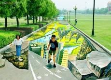 طویل ترین نقاشی خیابانی جهان + عکس
