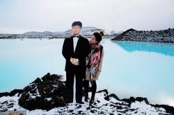 سفر دور دنیا با پدر مقوایی +عکس
