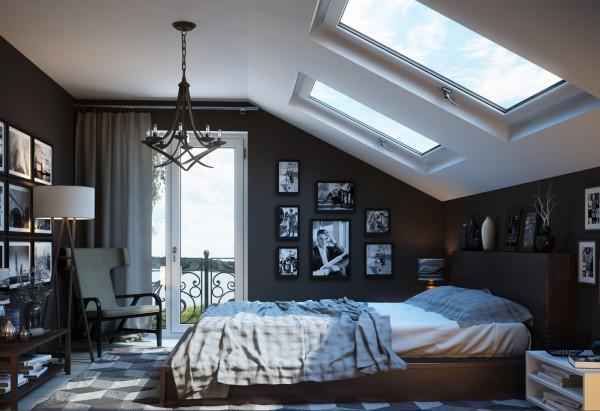 Gray-bedroom