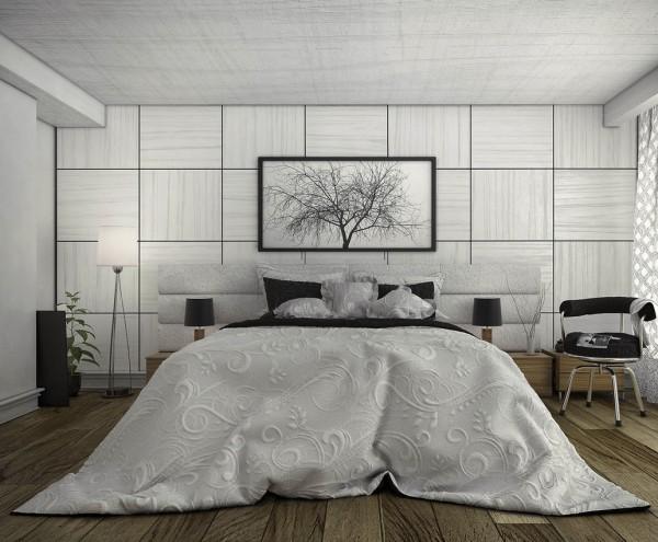 White-bedspread