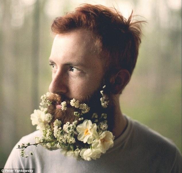 ریش با طرح گل