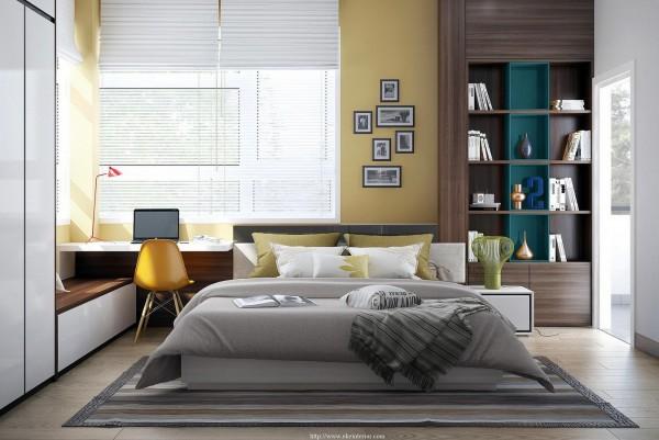 Yellow-white-bedroom-decor